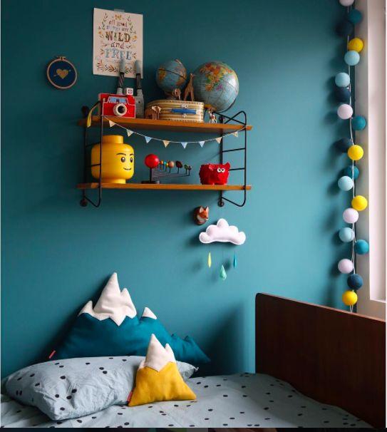 Le bleu qui se rapproche du turquoise pour une chambre de bébé