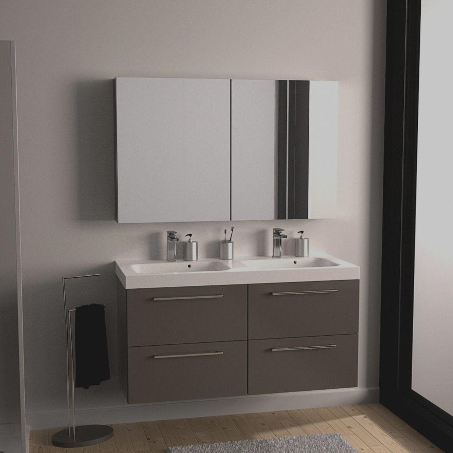 meuble de salle de bain couleur taupe